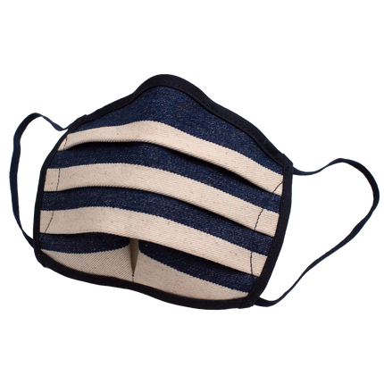 Linesman Mask - Indigo/Natural