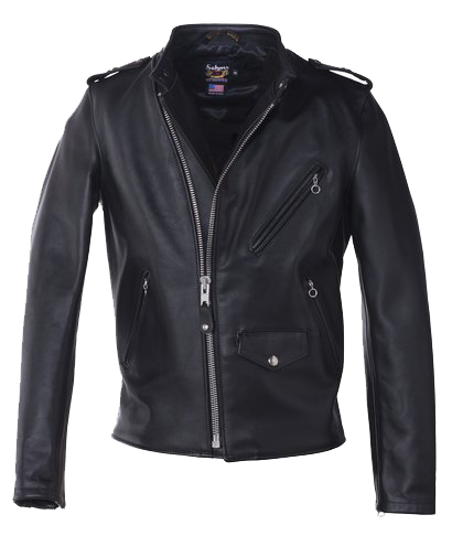 603 - Cafecto Steerhide Hybrid Leather Jacket - Black