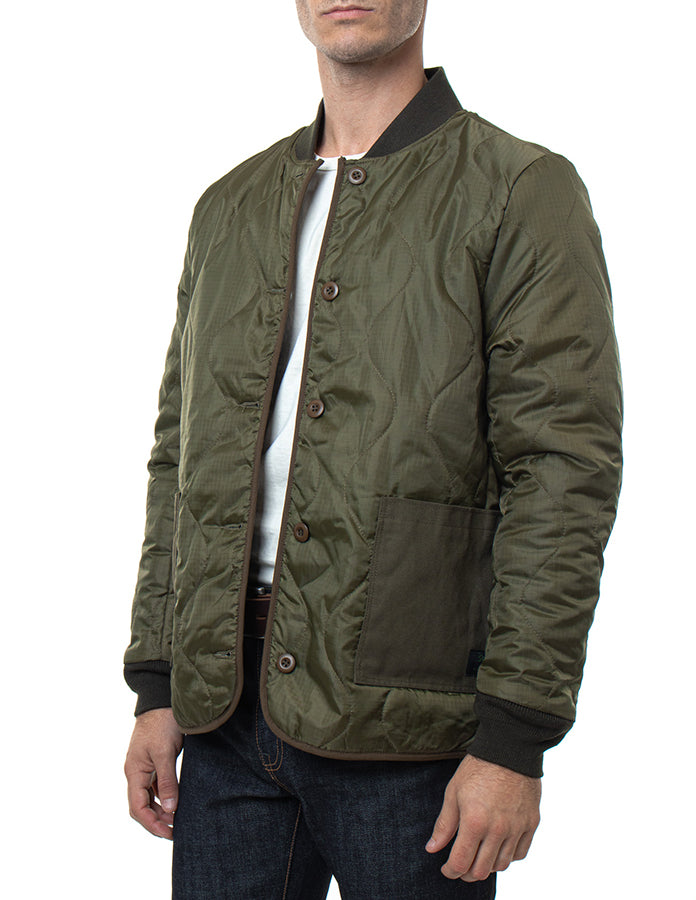 7920 - Olive Military Quilted Jacket