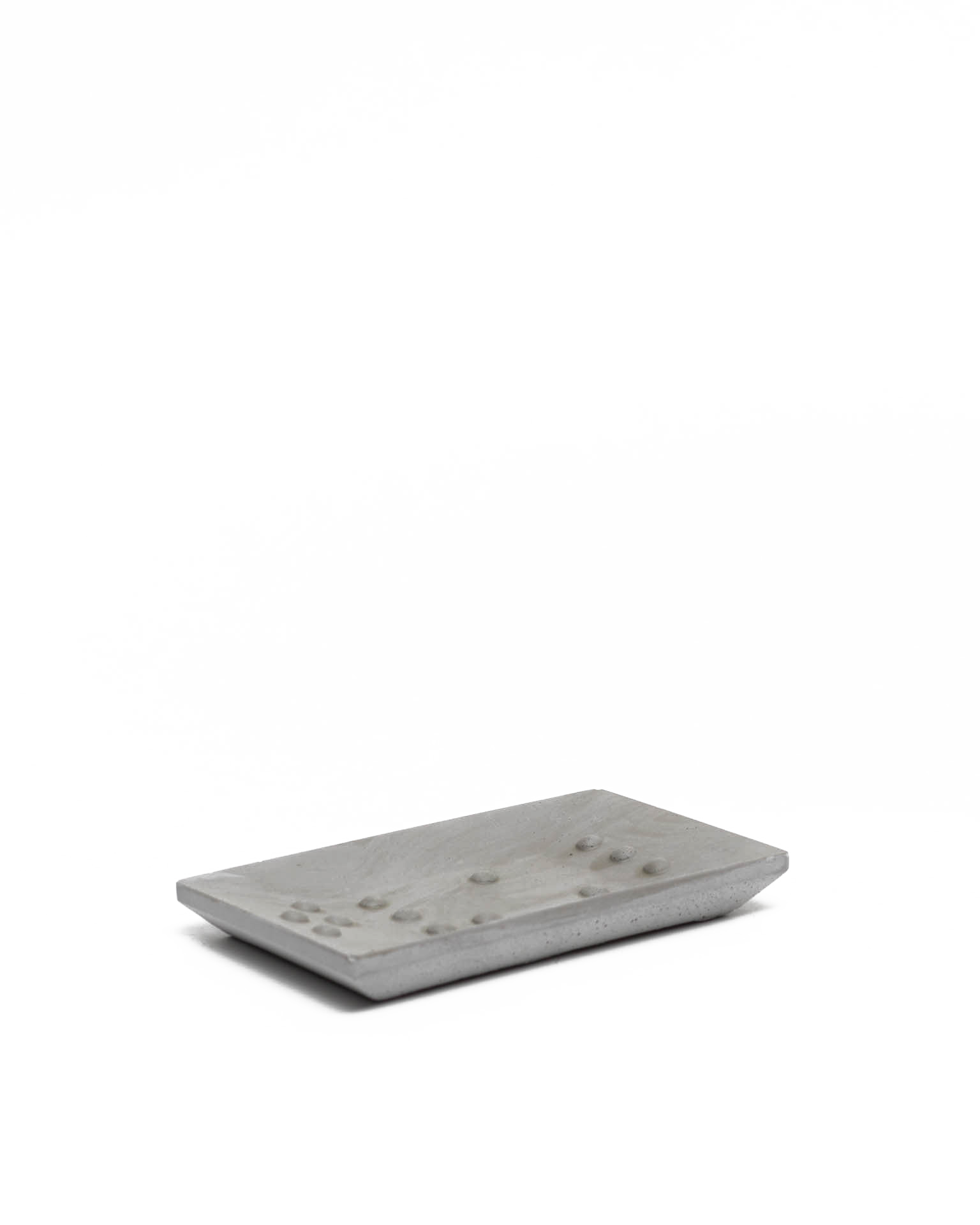 Square Braille Soap Dish Grey