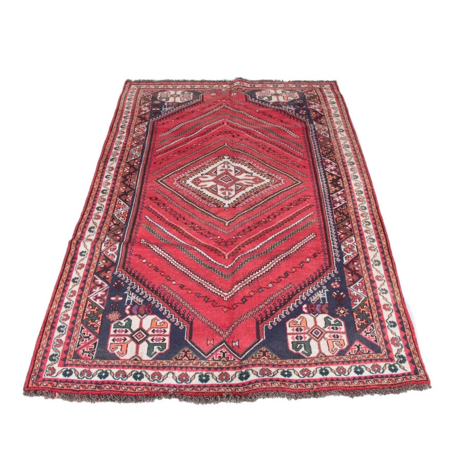 Hand-Knotted Persian Abadeh Area Rug