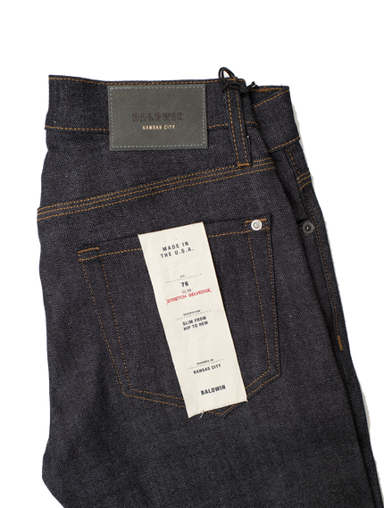 76 Raw Stretch Selvedge - Indigo