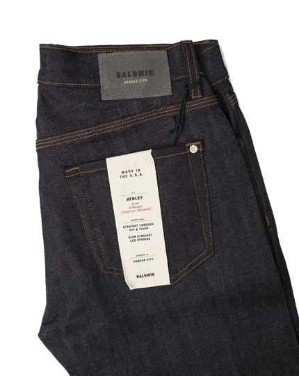 Henley Raw Stretch Selvedge - Indigo