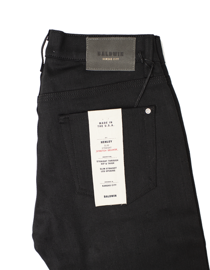 Henley Raw Stretch Selvedge - Black