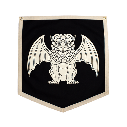 Gargoyle Camp Flag - Black
