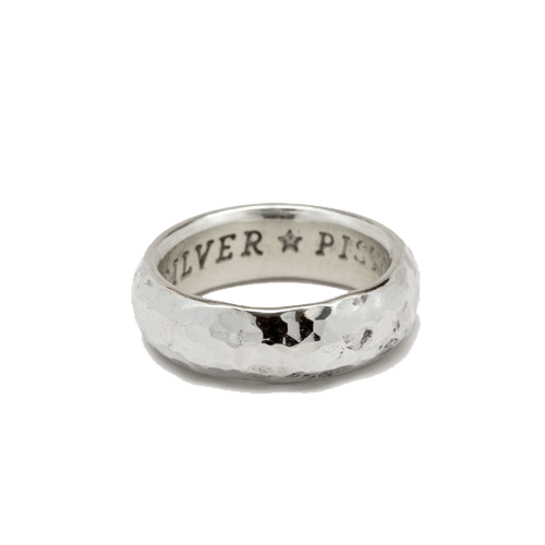 Heavy Hammered Silver Ring