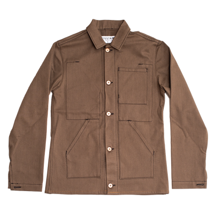 10.5oz - Experiment Saddle Brown Selvage Jacket - Everday Cut