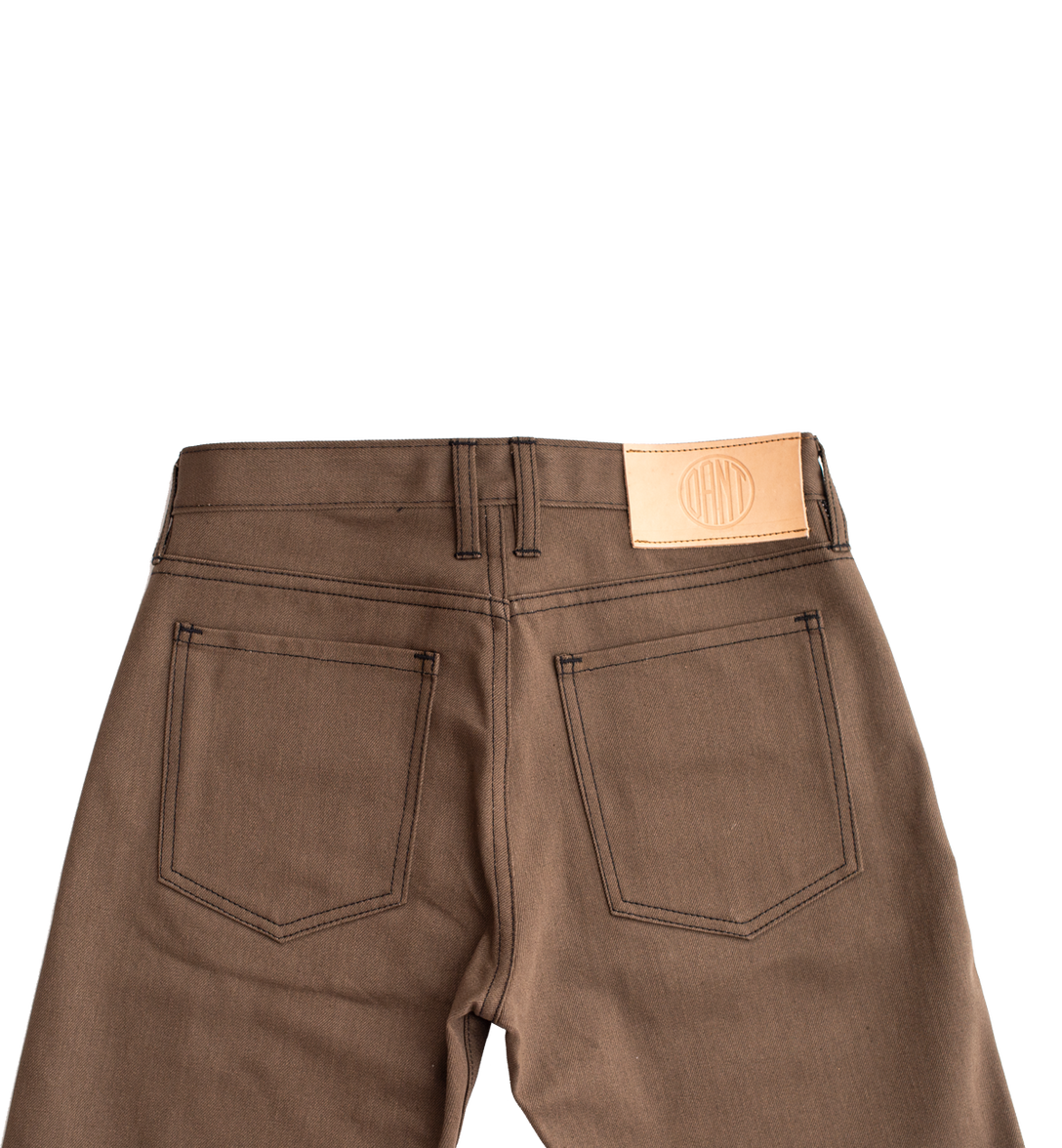 10.5oz - Experiment Saddle Brown Selvage Denim - Tailored Slim