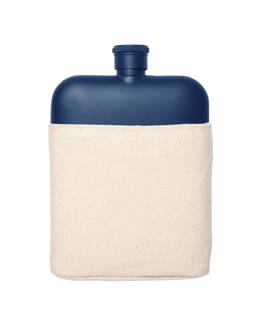 Navy Stainless Flask w/Canvas Carrier