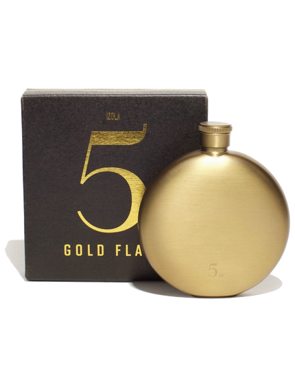 Gold 5 Oz. Flask