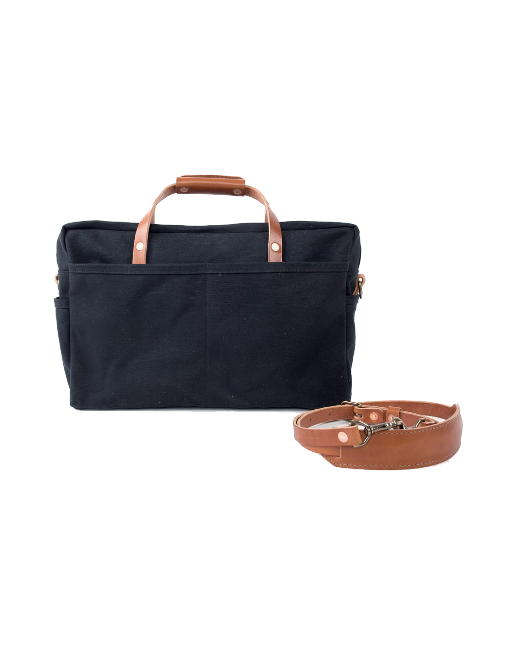 The Courier Briefcase - Black