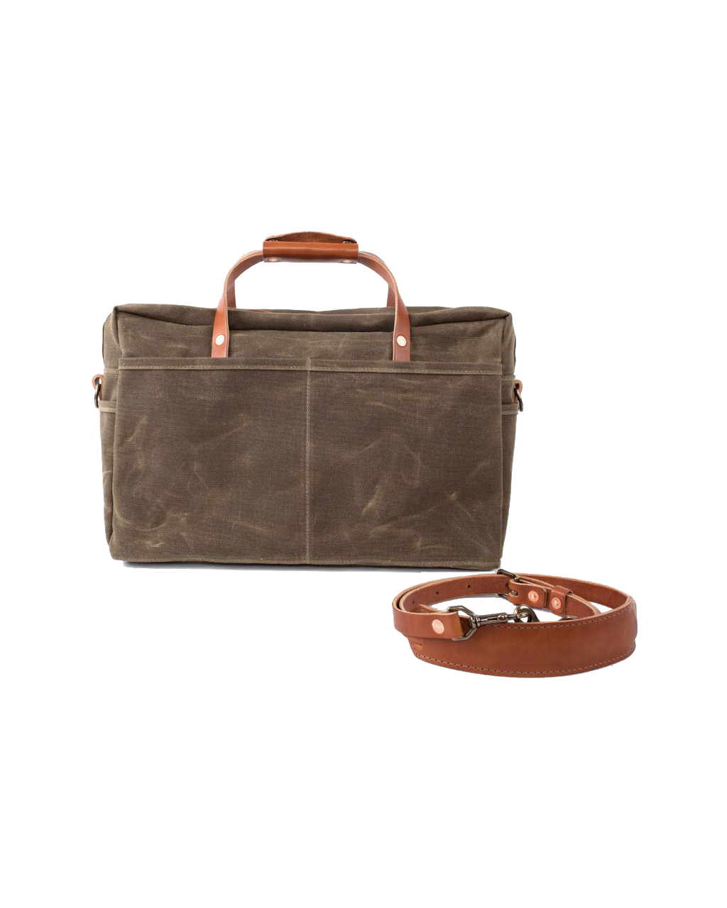 The Courier Briefcase - Field Tan
