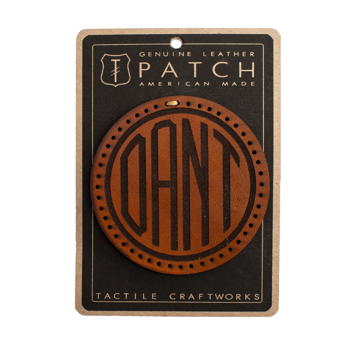 Leather Dant Monogram Patch