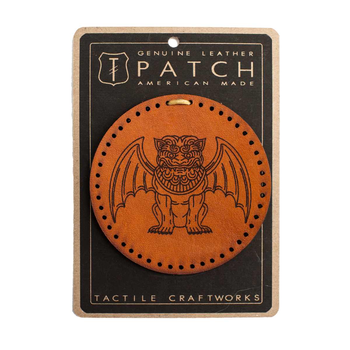 Leather Gargoyle Patch