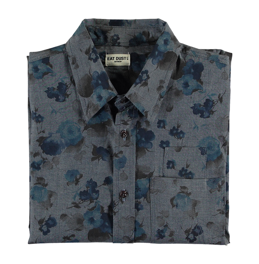 Button Up Combat Shirt - Faded Flowers