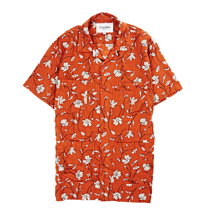 Tencel S/S Floral Summer Shirt - Clay