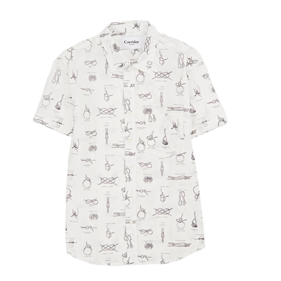 Summer Knot S S Button Up White James Dant Purveyors Of Men S