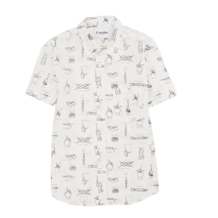 Summer Knot S/S Button Up - White