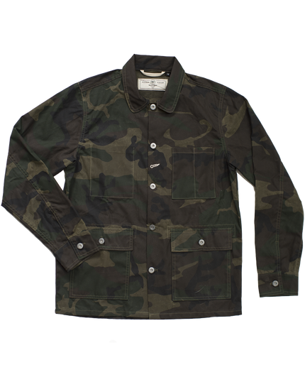 Field Jacket - Waxed Olive Camo