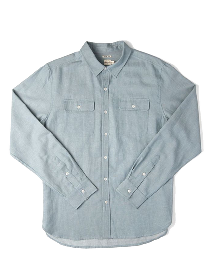 Cole L/S Button Down - Bright Chambray