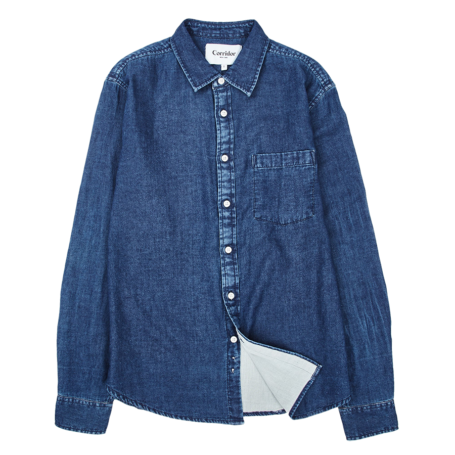 Lined Indigo L/S - Washed Indigo