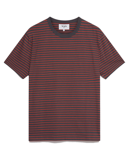 Duval S/S Tee - London Grey/Redwood