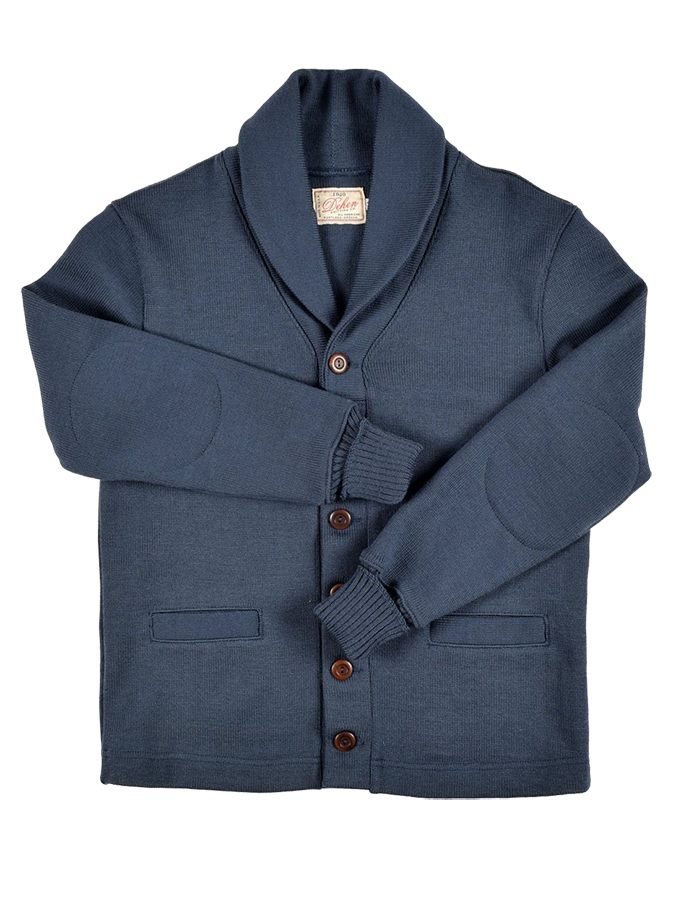 Shawl Sweater Coat - Centennial Blue