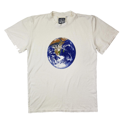 Jung Tee Earth Day Print - Washed White