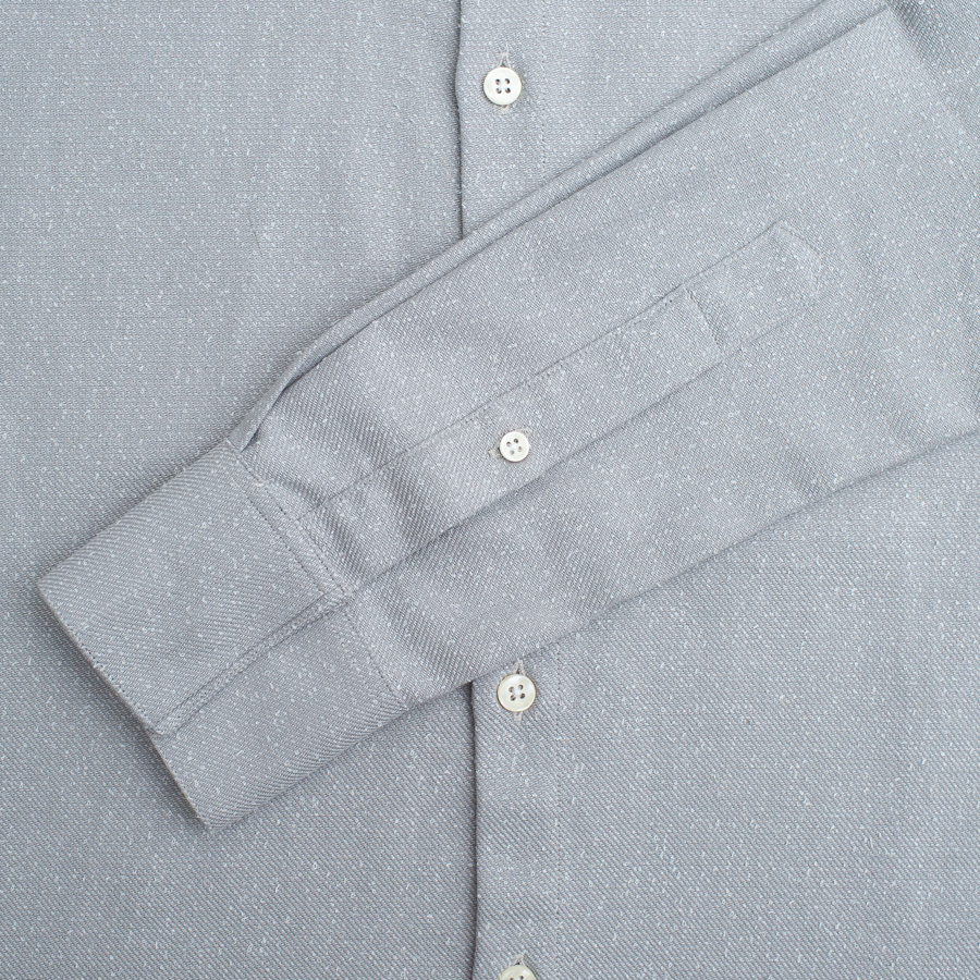 L/S Dylan Button Up - Snow Flurry