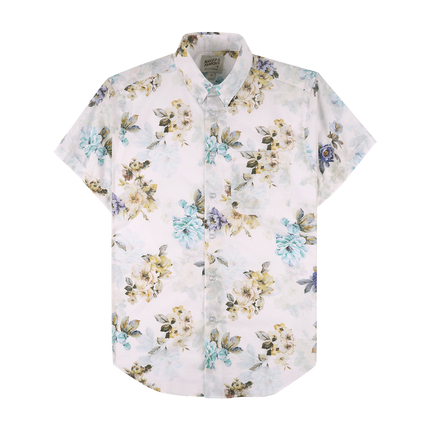 S/S Easy Shirt Flower Painting - White