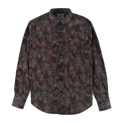 L/S Easy Shirt Allover Flowers - Black