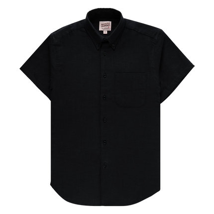 Easy Guy S/S Shirt - Double Weave Gauze Slub - Black