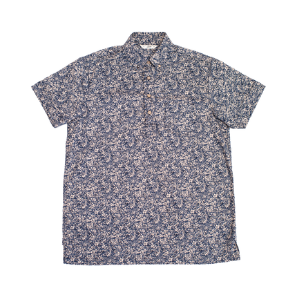 Short Sleeve Popover Shirt - Tan Floral