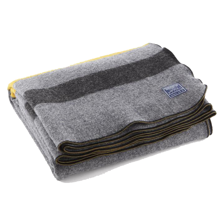 Foot Soldier Military Wool Twin Throw Blanket - Gray/Gold/Black