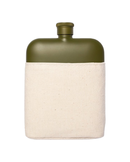 Army Stainless Flask w/Canvas Carrier