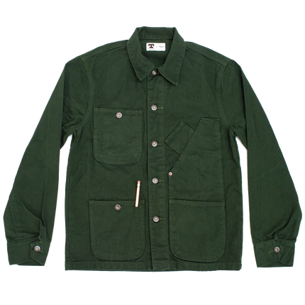 Coverall Jacket - Green Garment Dye