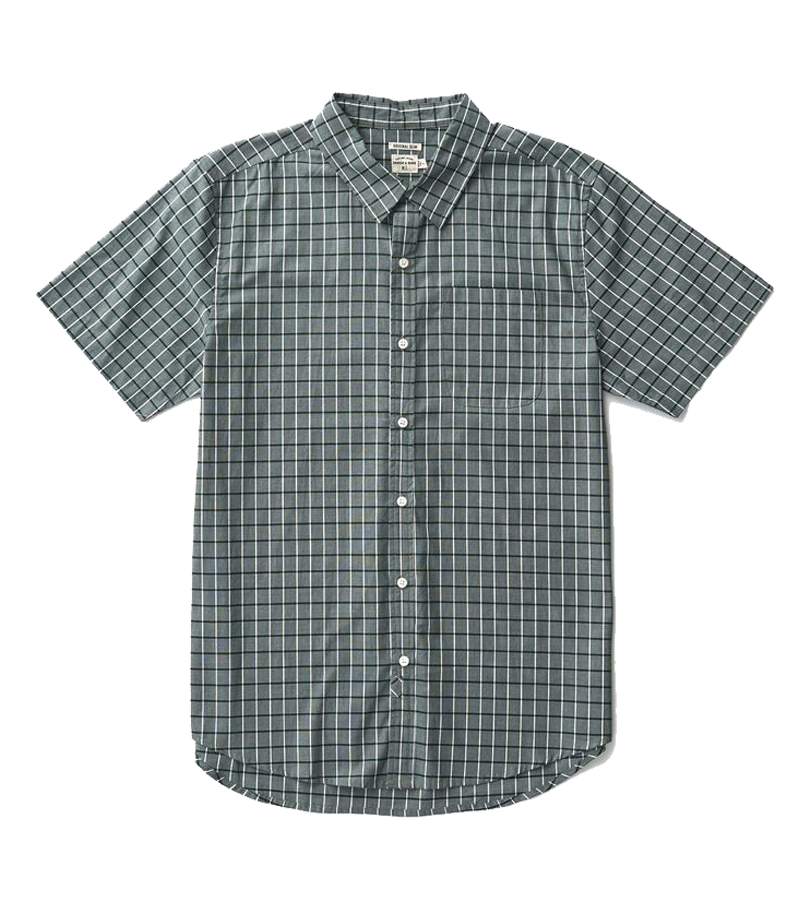 Harbor S/S Button Up - Forest Windowpane
