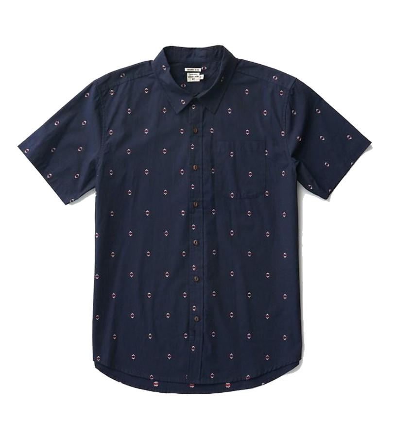 Harbor S/S Button Up - Navy Diamonds