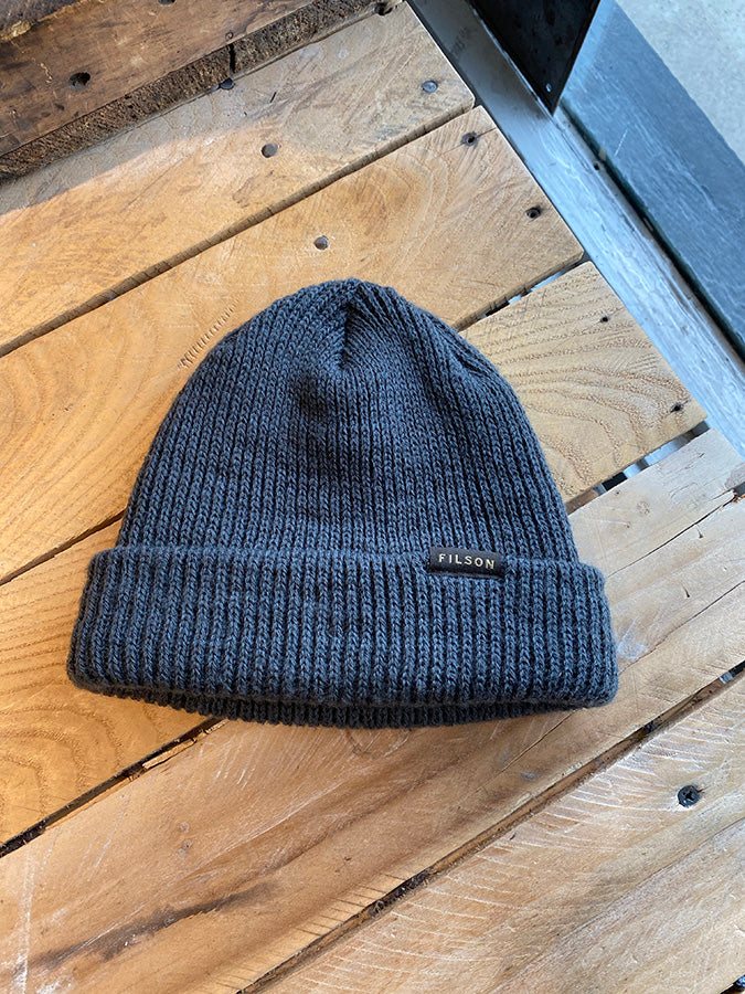 Gently Used Filson Watch Cap - Charcoal