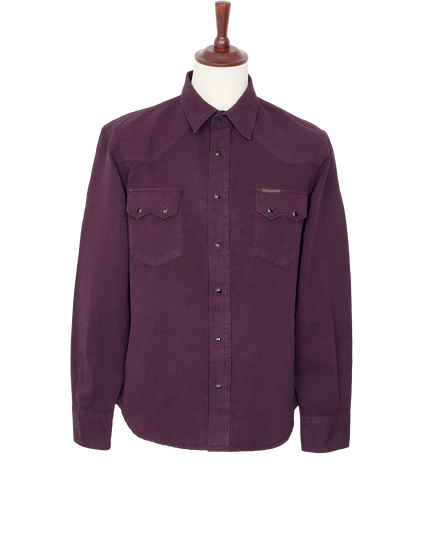 Dollard Sawtooth Snap Shirt - Purple Haze