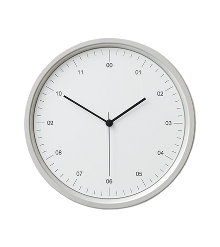 Instrmnt Clock - Silver