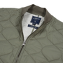 Daines Light Weight Quilted Bomber - Khaki Olive