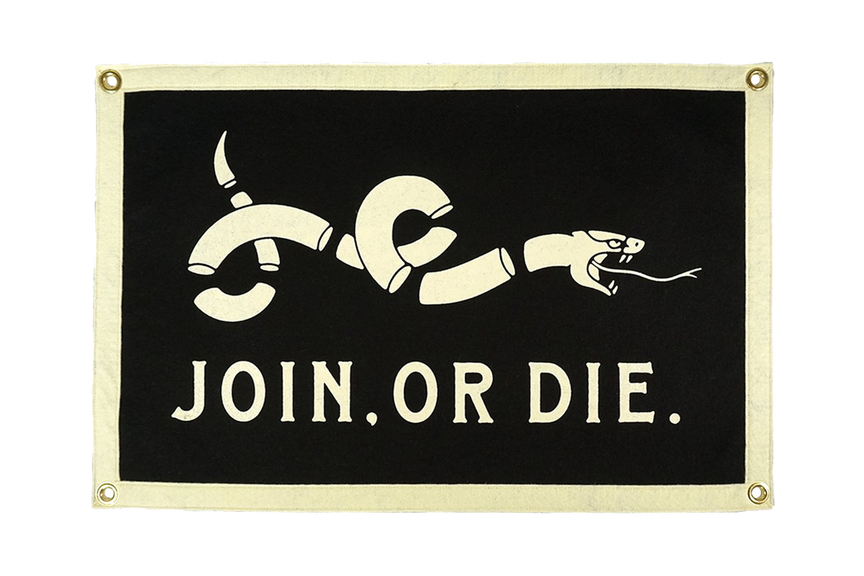 Join or Die - Camp Flag