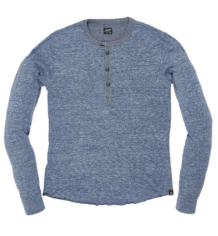Todd Henley L/S - Blue Heather