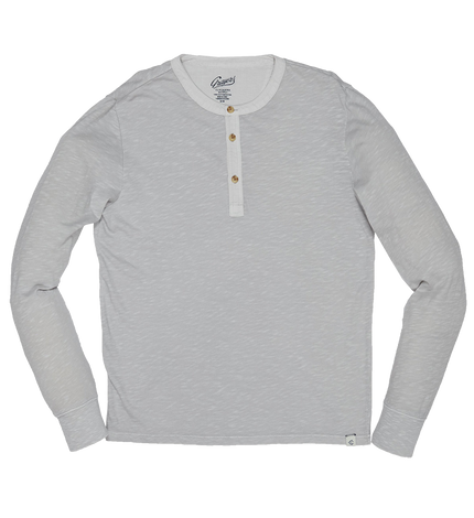 Madison Jaspe L/S Henley - Micro Chip