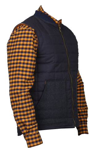 Quilted Gilet Vest - Navy