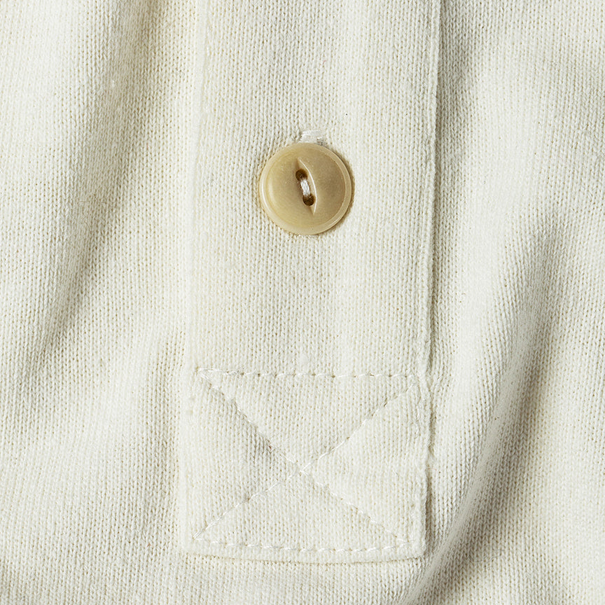 S/S Heavy Bag Henley - Natural