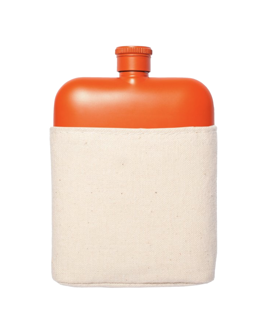 Orange Stainless Flask w/Canvas Carrier