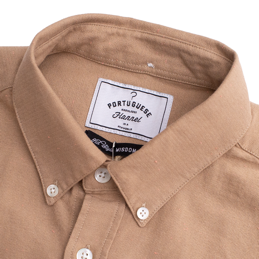 Blur SS Button Down - Sand