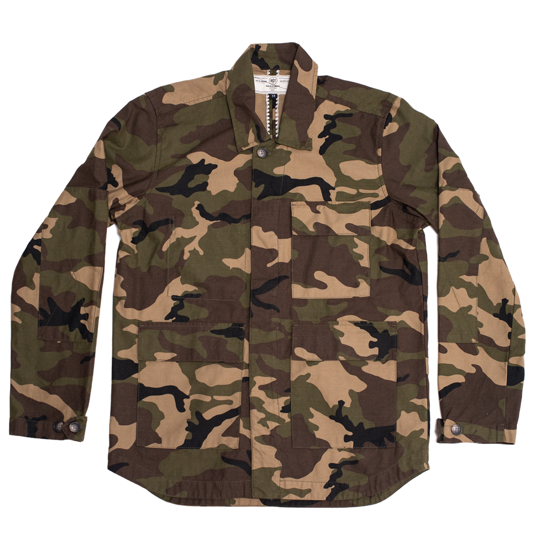 f308a87b47951 Drifter Jacket - Olive Camo | James Dant - Purveyors of Men's Goods